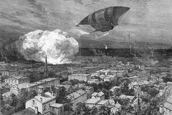 Proposed dynamite balloon, 1885