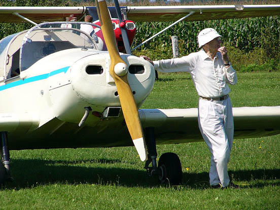 A Canadian private pilot with his Jodel D11-2.