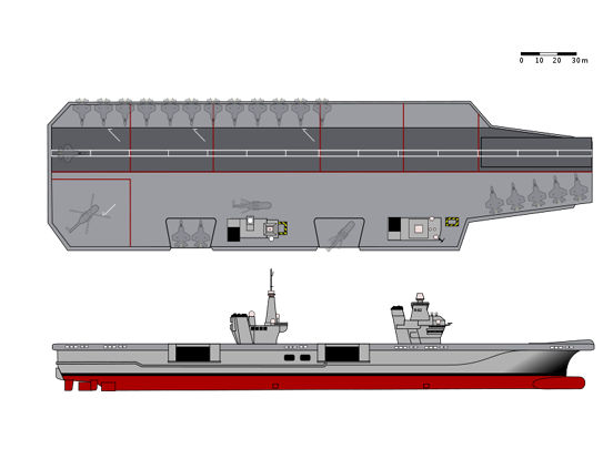 Impression of the Queen Elizabeth class, two of which are under construction for the Royal Navy.