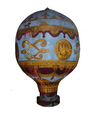 A model of the Montgolfier brothers balloon at the London Science Museum