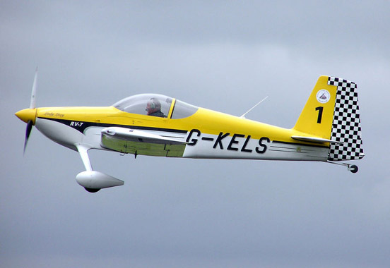 This Van's Aircraft RV-7 clearly displays its registration. The G prefix shows that it is registered in the United Kingdom.