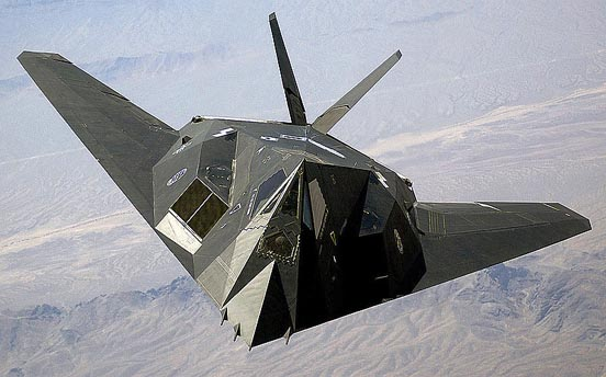 The retired F-117 Nighthawk stealth strike aircraft of the U.S Air Force