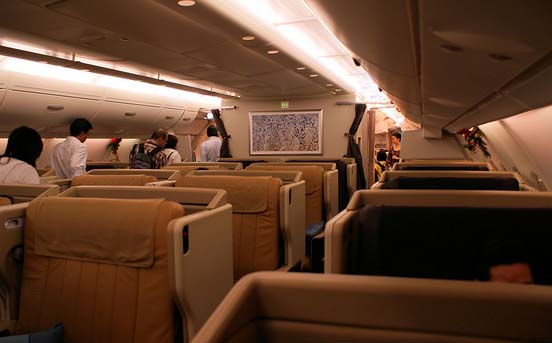 Business class on the first Singapore Airlines A380