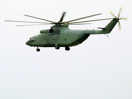 Mil Mi-26, the world's largest production helicopter.