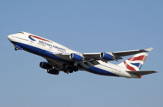 British Airways operates the largest fleet of 747s in the world. The addition of winglets is a noticeable difference between most -400s and earlier variants.