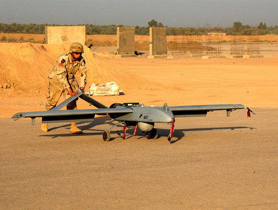 The RQ-7 Shadow is capable of delivering a 20-lb.