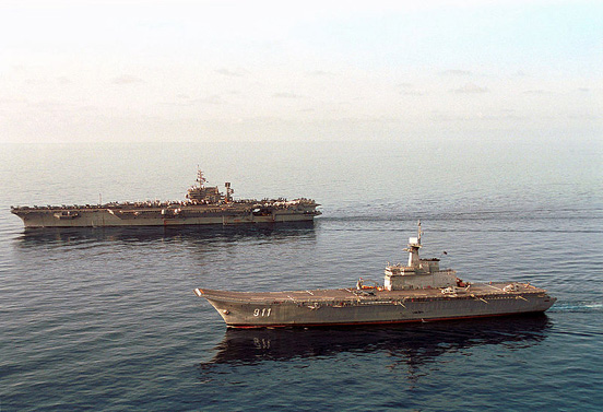 HTMS Chakri Naruebet and USS Kitty Hawk