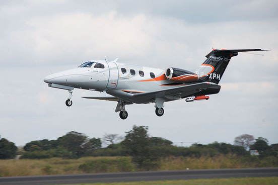 Embraer Phenom 100 during its maiden flight.
