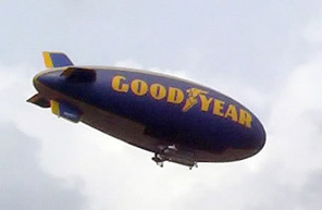 One of The Goodyear Tire and Rubber Company's blimp fleet