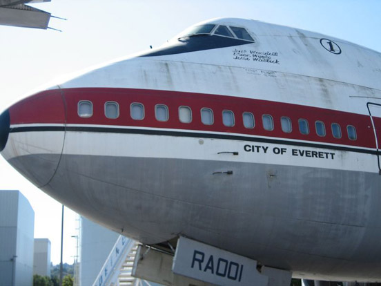 The prototype 747, City of Everett, at the Museum of Flight in Seattle, Washington