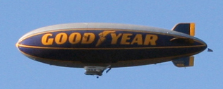 The Spirit of Goodyear, one of the iconic Goodyear Blimps.