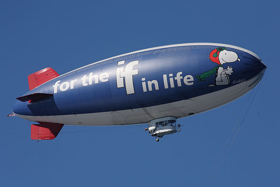 An American Blimp Corporation A60, the Metlife Snoopy Two