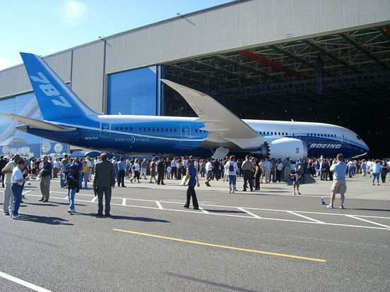The Boeing 787 (above) will compete with the Airbus A330 and the Airbus A350 on the medium to long range market.
