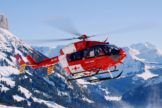 Eurocopter EC 145 of the Rega air rescue service.