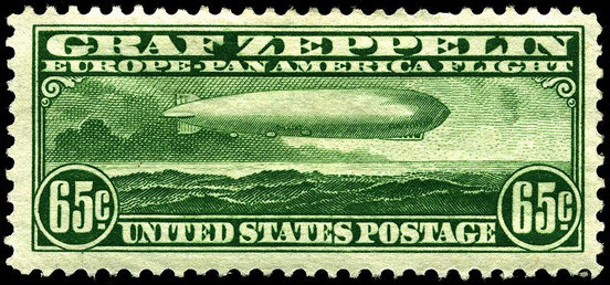 US Air Mail stamp (C-13), issued April 1930