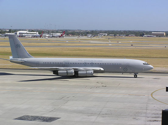 RAAF 707-368C, Perth International airport, Australia.