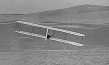 Wilbur making a turn October 24, 1902 with the movable rudder.