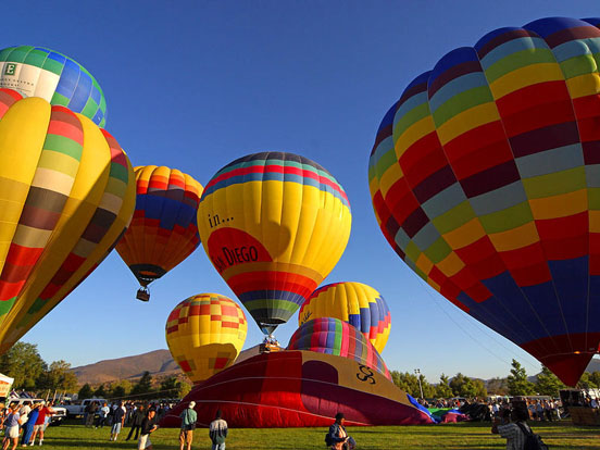 Hot air balloons, San Diego, California