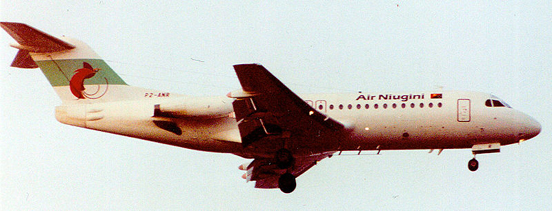 Fokker F-28 of Air Niugini