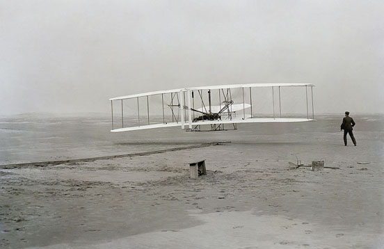 First flight by the Wright Brothers, December 17, 1903
