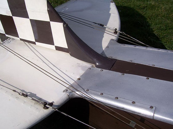de Havilland Tiger Moth elevator and rudder cables
