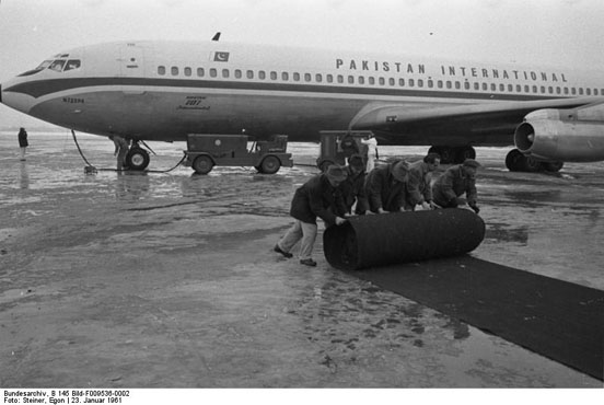 A Pakistan International Airlines Boeing 707 photographed in Germany, 1961