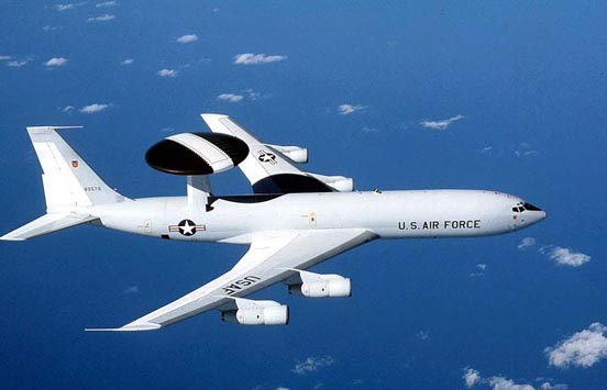 USAF E-3 Sentry in flight.