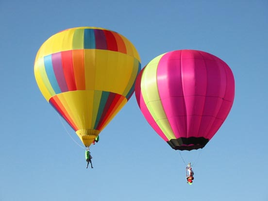 A pair of Hopper balloons