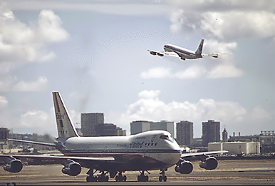 The 707 and 747 formed the backbone of many major airline fleets through the end of the 1970s.