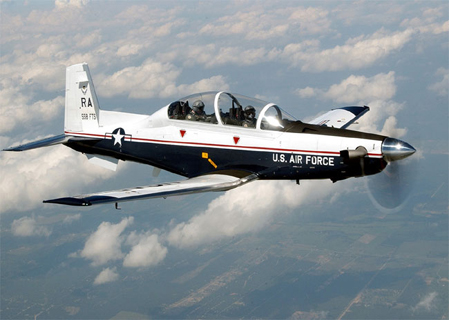 A USAF T-6A Texan II out of Randolph Air Force Base.