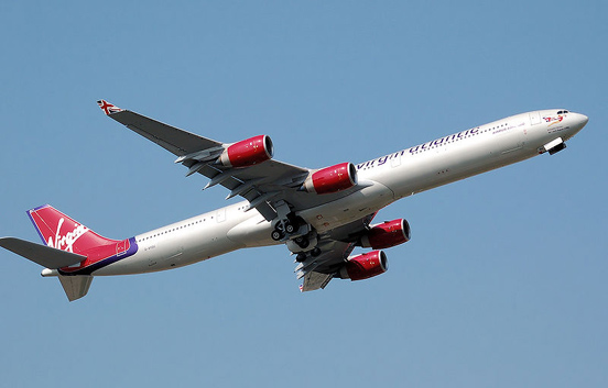 An Airbus A340-600 of Virgin Atlantic Airways. In October 2008, Virgin Atlantic offered to combine its operations with BMI in an effort to reduce operating costs.