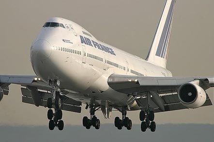 Air France 747-200 in landing configuration