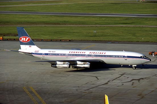 Yugoslav Airlines 707-300 at Belgrade International Airport, Serbia