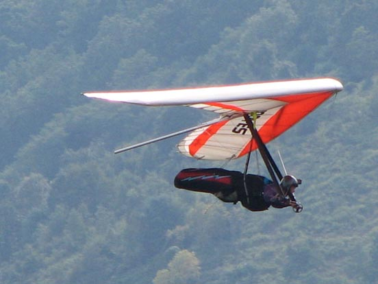 Hang gliding at Hyner, Pennsylvania.