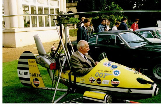 Autogyro Little Nellie with its creator and pilot, Ken Wallis