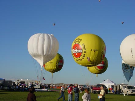 Gas balloons at the Albuquerque International Balloon Fiesta