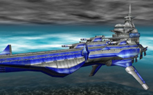The Delphinus from Skies of Arcadia, a battleship-like airship supported by magic.