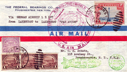 Cover flown on the
