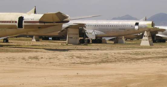 Boeing 707s at AMARC being used for salvage parts for the KC-135s.
