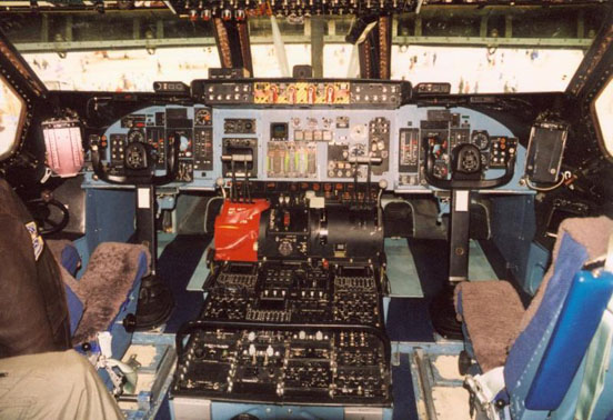Instrument panel of a C-5A.