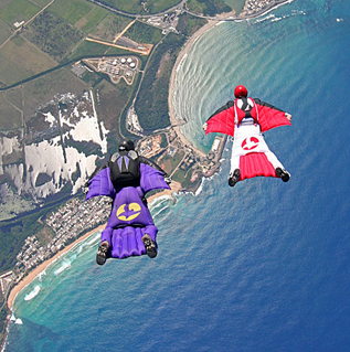Wingsuit Jumpers in Freefall