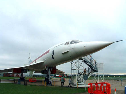 Pre-production Concorde number 101 on display at the Imperial War Museum Duxford, UK