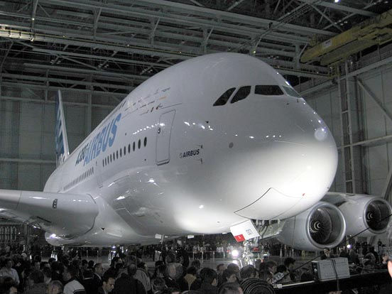 The first completed A380 at the