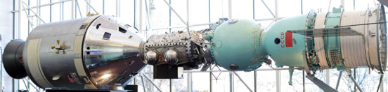 The National Air and Space Museum display of Apollo-Soyuz.