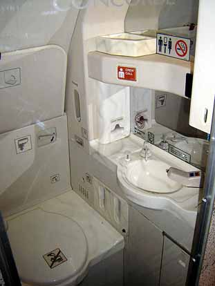 Concorde toilet facilities