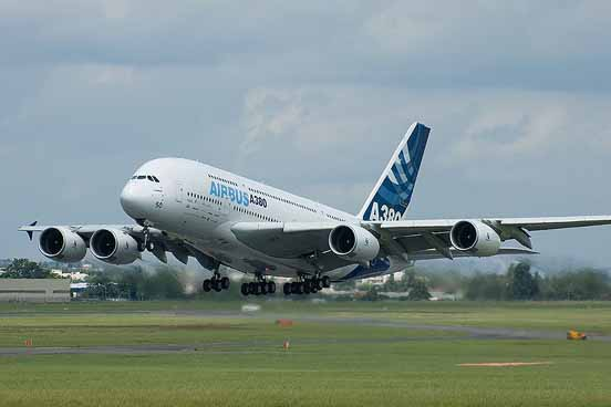 Airbus A380, the largest passenger jet in the world, entered commercial service in 2007.