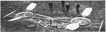 Paul Cornu's helicopter, built in 1907, was the first flying machine to have risen from the ground using rotating wings instead of fixed wings.