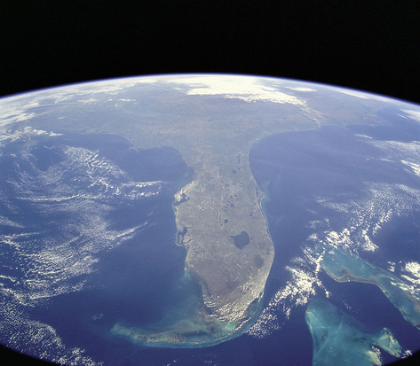 Florida, USA, taken from NASA Shuttle Mission STS-95 on October 31, 1998.