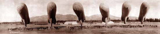 Gas balloons in 1919.
