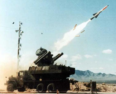 A Boeing MIM-115 surface-to-air missile